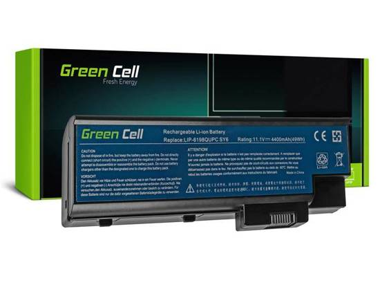 Bateria akumulator Green Cell do laptopa Acer Aspire 1650 3508 3509 3630 3660 Travelmate 4500 BTP-BCA1 11.1V 6 cell