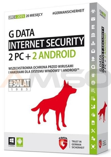 G Data Internet Security 2 PC + 2 ANDROID 20 M-CY