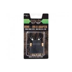 Adapter HDMI(F)->DVI-D(M)(18+1) Single Link Natec Extreme Media (blister)