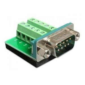 Adapter terminal block (10 pin) -> DB9 COM(M) Delock