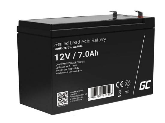 Akumulator żelowy AGM Green Cell 12V 7Ah