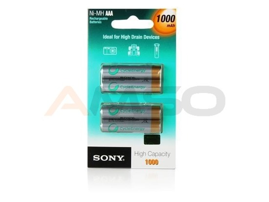 Akumulatory AAA Sony 1000 mAh 4 szt. High Capacity