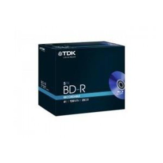 BD-R TDK (BLU-RAY) 25GB X4 (5-PACK BOX)