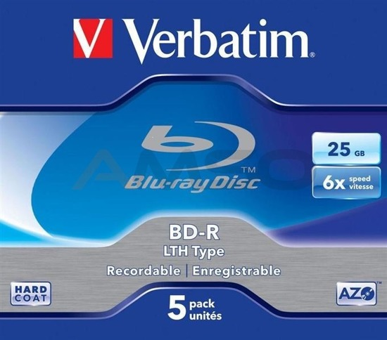 BD-R Verbatim 6x 25GB (Jewel Case 5) Blu-Ray LTH Type