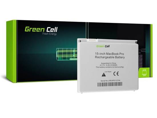 Bateria Green Cell A1175 Apple MacBook Pro 15 A1150 A1211 A1226 A1260 (Early 2006, Late 2006, Mid 2007, Late 2007, Early 2008)
