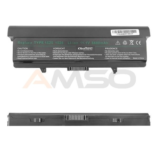 Bateria Qoltec do noteb. DELL 1525(H)(9CELL),6600mAh,11.1V