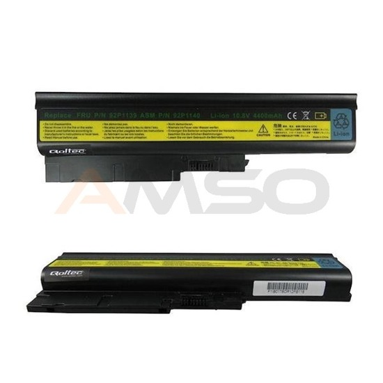 Bateria Qoltec do noteb. - IBM T60, 4400mAh,10.8-11.1V