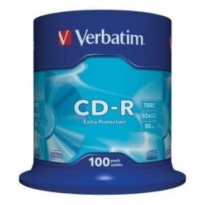 CD-R Verbatim 52x 700MB (Cake 100) EXTRA PROTECTION