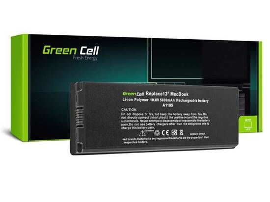 Czarna Bateria Green Cell A1185 do Apple MacBook 13 A1181 (2006, 2007, 2008, 2009)