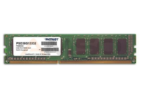 DDR3 PATRIOT 8GB/1333MHZ PATRIOT SIGNATURE LINE CL.9