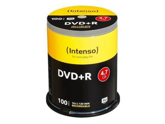 DVD+R INTENSO 4.7GB X16 (100 CAKE)
