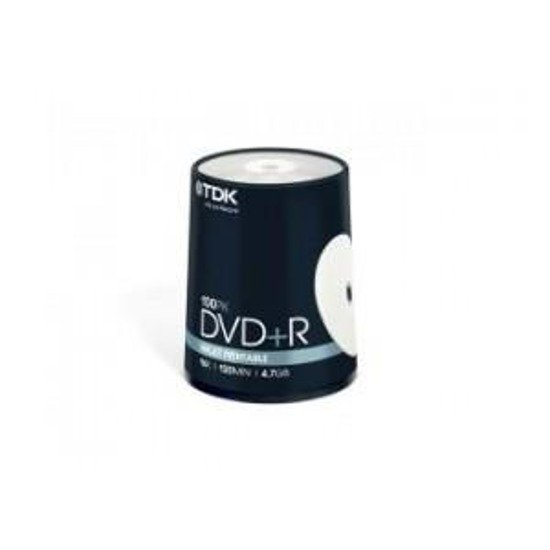 DVD+R TDK 16x 4,7GB (Cake 100) Printable