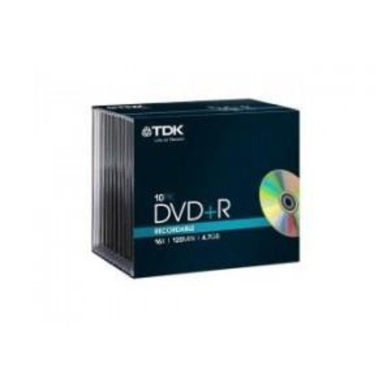 DVD+R TDK 16x 4.7GB (Slim 10)