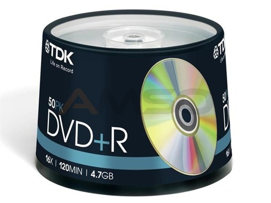 DVD+R TDK 4,7GB 16x  Cake 50 szt Printable