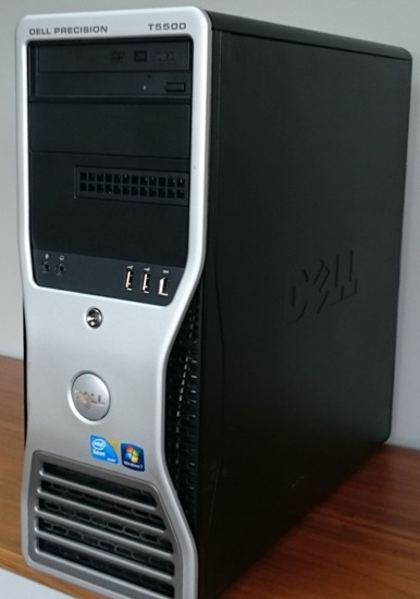 Dell T5500 2x E5630 / 48GB DDR3 / 120GB SSD / FX380
