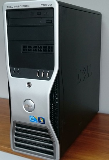 Dell T5500 2x E5630 / 48GB DDR3 / 120GB SSD / FX380 Windows 7 Professional PL
