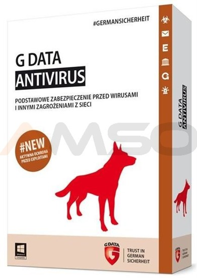 G Data AntiVirus 2PC 1ROK BOX