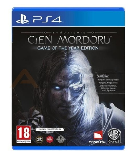 Gra Śródziemie: Cień Mordoru Game of The Year Edition (PS4)