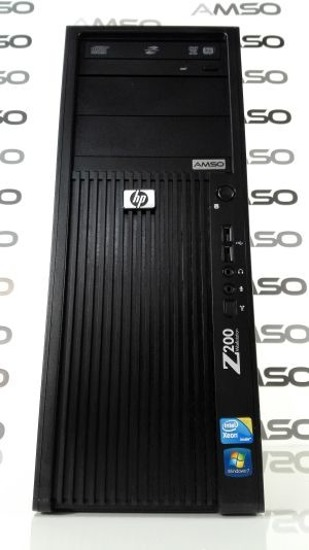 HP Z200 XEON X3470 QUAD CORE 2.93GHz 8GB 120GB SSD DVD-RW NVIDIA QUADRO NVS WINDOWS 7 HOME PREMIUM