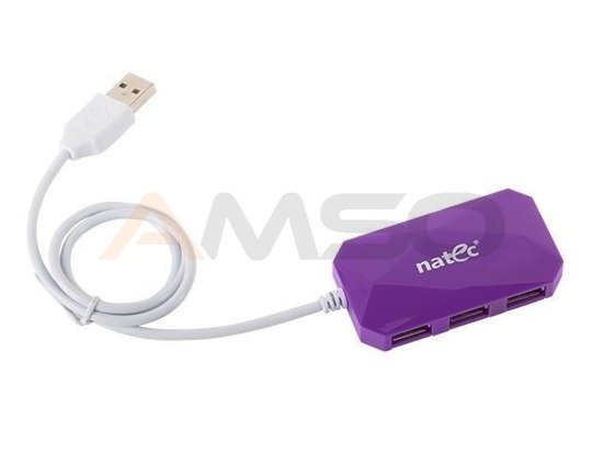 HUB USB NATEC 4-PORT LOCUST USB 2.0 PURPLE