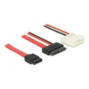 Kabel SATA Delock SLIM (F) 7+6 PIN -> SATA 7 PIN + 2 PIN Power(M) 0,15m