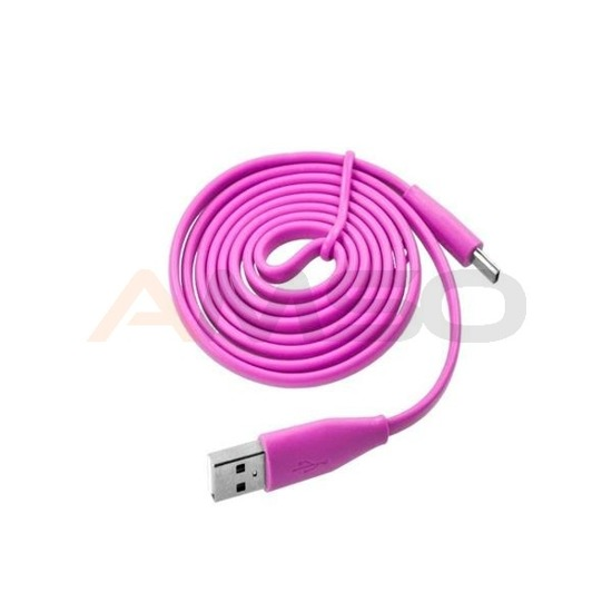Kabel micro USB e5 różowy 1m do smartfona/tabletu