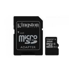 Karta pamięci KINGSTON microSDHC 32GB + adapter, class 10 (SDC10G2/32GB)