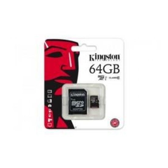 Karta pamięci microSDXC KINGSTON 64GB + adapter Class 10