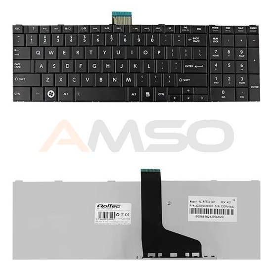 Klawiatura Qoltec do noteb. Toshiba Satellite C850 L850