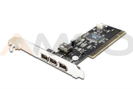 Kontroler PCI FireWire 400 6pin 3z+1w, Digitus