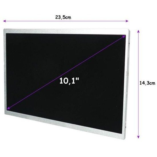 "Matryca LED Qoltec 10.1"" 1024*600 GLOSSY  - 40Pin"