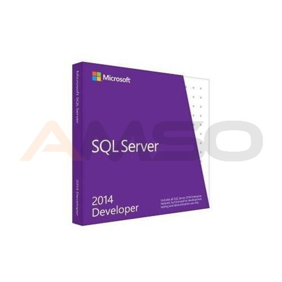 Microsoft SQL Server 2014 Developer Edition English Not to US DVD 1 Clt