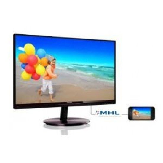 "Monitor LCD Philips 21,5"" LED IPS 224E5QDAB/00 HDMI MHL głośniki"