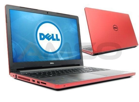 "Notebook Dell Inspiron 15 5559 15,6""HD/i7-6500U/8GB/1TB/R5 M335-2GB/W10 czerwony"