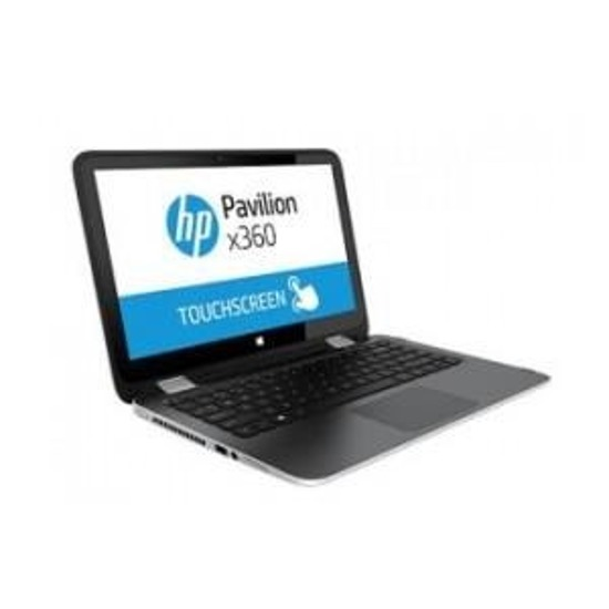 "Notebook HP Pavilion x360 13,3""touch/i5-5200U/4GB/128SSD/iHD5500/W81"