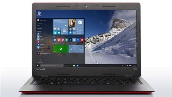 "Notebook Lenovo Ideapad 100S-14 14""HD/N3050/2GB/SSD32GB/iHDG/W10 red-black"