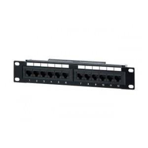 "PATCH PANEL 10"" 12 PORT 1U KAT.5E CZARNY EQUIP"