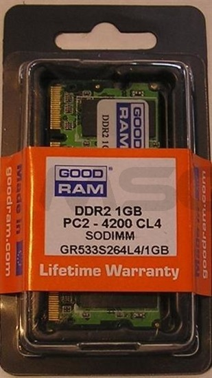 Pamięć DDR2 GOODRAM SODIMM 1GB/800MHz PC2-6400