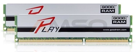 Pamięć DDR3 GOODRAM PLAY 8GB (2x4GB) 1866MHz PC3-15000 9-11-9-28 SILVER 512x8