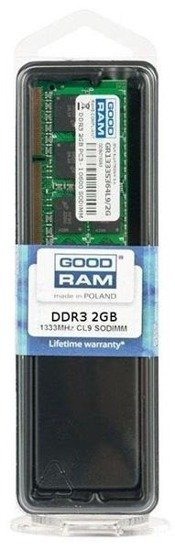 Pamięć DDR3 GOODRAM SODIMM 2GB 1333MHz PC3-10600