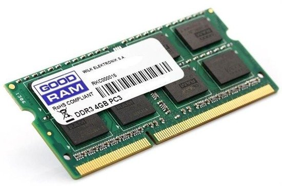 Pamięć DDR3 GOODRAM SODIMM 4GB 1600MHz CL11 512x8 Lov Voltage 1,35V