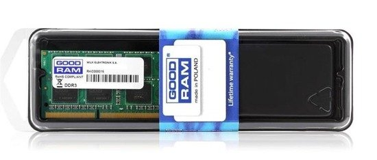 Pamięć DDR3 GOODRAM SODIMM 8GB PC3-12800 1600Mhz 1,35V Low Voltage