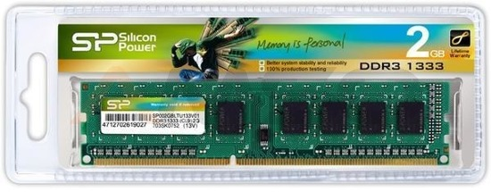 Pamięć DDR3 SILICON POWER 2GB/ 1333MHz (256*8) 8chips – CL9
