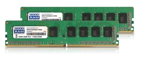 Pamięć DDR4 GOODRAM 16GB(2x8GB) PC4-17000 (2133MHz) CL15 DUAL CHANNEL KIT 512x8