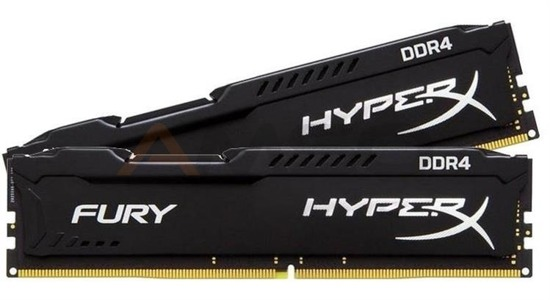 Pamięć DDR4 Kingston HyperX FURY Black 16GB (2*8GB) 2666MHz Non-ECC CL15 1.2V