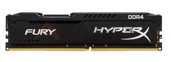 Pamięć DDR4 Kingston HyperX FURY Black 8GB 2666MHz Non-ECC CL15 1.2V