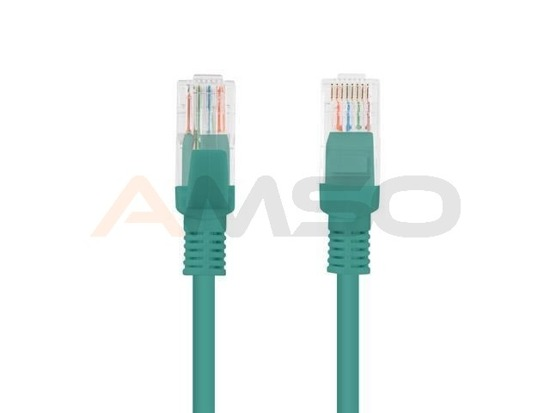 Patch cord FTP kat.5E 0.25M zielony Lanberg