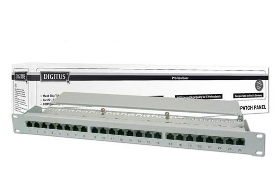 "Patch panel DIGITUS 19"" 24x RJ45 S/FTP kat. 6 1U"