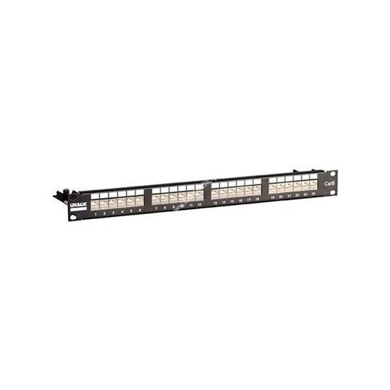 Patch panel STP kat.6 24-porty RJ-45 z listwą Linkbasic