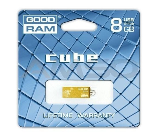 Pendrive GOODRAM CUBE 8GB GOLD RETAIL9